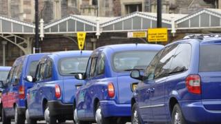 Taxis at Bristol Temple Meads railway station