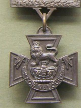 A Victoria Cross owned by the Regimental Museum of The Royal Welsh