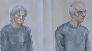 Court artist picture of Susan and Christopher Edwards