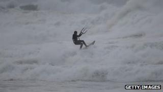 St Jude storm, Fistral Beach, Newquay, 27 October
