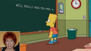 Simpsons tribute to Marcia Wallace (inset)