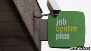 Sign for a branch of Job Centre Plus