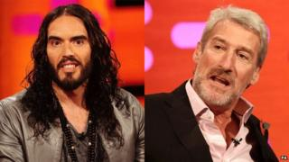 Russell Brand and Jeremy Paxman