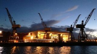 BAE Systems' Govan shipyard