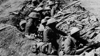 British soldiers at the Somme