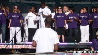 Ipswich Community Gospel Choir at Music On The Green