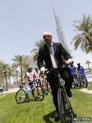 Boris Johnson in Dubai