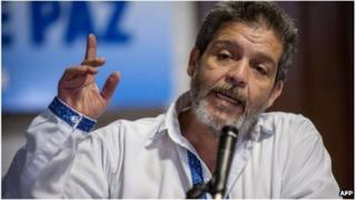 Farc rebel leader Marcos Calarca