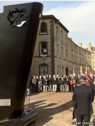 The Merchant Navy memorial in Hull