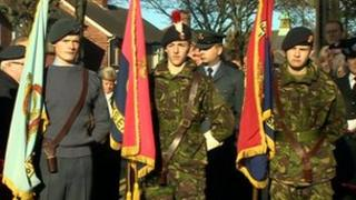 Remembrance Day parade in North Tyneside