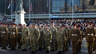 Guildhall Square Remembrance Sunday service