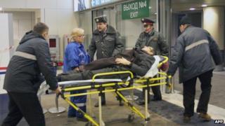 Medical evacuation at Domodedovo, 24 Jan 11