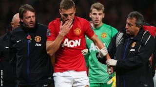 Manchester United captain Nemanja Vidic