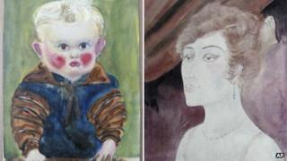 Newly discovered works by Otto Griebel (left) and Otto Dix