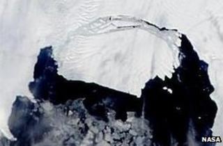 Satellite image of the PIG iceberg (Image: Nasa)
