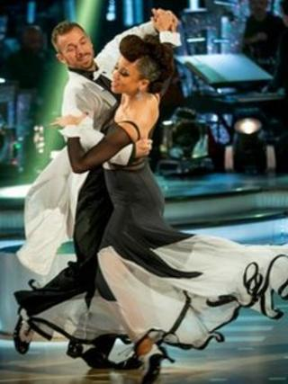Natalie Gumede and Artem Chigvintsev on Strictly Come Dancing
