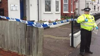 The scene of the death in Great Yarmouth