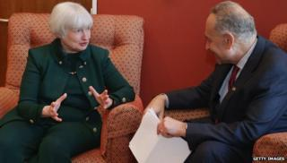 Janet Yellen and Charles Schumer
