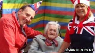 Simon Hughes, Grace Jones and Sue Wilmer