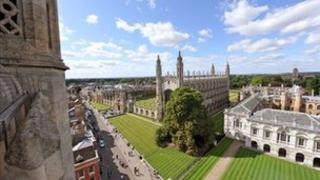 Cambridge University's Kings college chapel