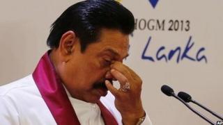 Sri Lanka's President Mahinda Rajapaksa