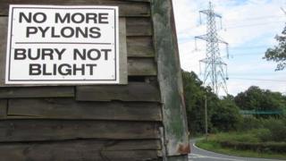 Pylon, south Suffolk