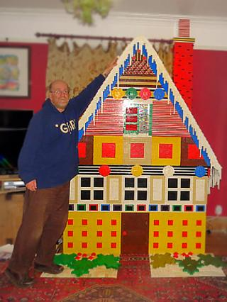 Lego gingerbread house by Mike Addis