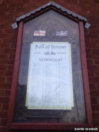 A roll of honour in Beverley