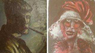 Two paintings, previously unknown, by German artist Otto Dix, 5 November 2013