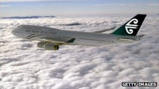 Air New plane in the air