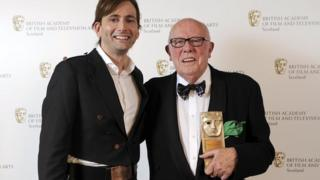 David Tennant presented the award to Richard Wilson