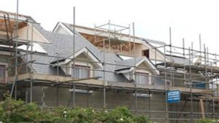 Houses under construction in Guernsey