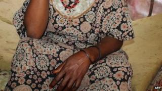 An alleged rape victim in Mogadishu, Somalia - December 2012