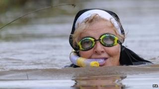 World Bog Snorkelling Championships 2013 competitor