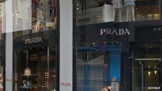 Prada store on Old Bond Street