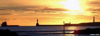 Sunrise over Aberdeen beach, picture taken by Sarah Rose