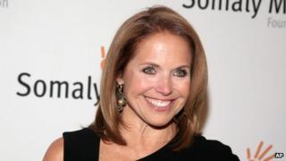 Katie Couric, seen in New York on 23 October 2013