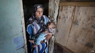 Syrian refugees at the Dahb El Sim refugee camp in Saida, Lebanon