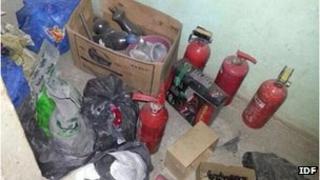 Materials found in militants' car