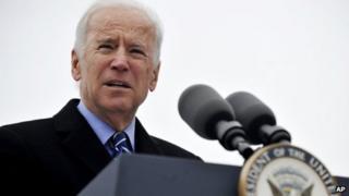 Vice-President Joe Biden appeared in Chicago, Illinois, on 25 November 2013