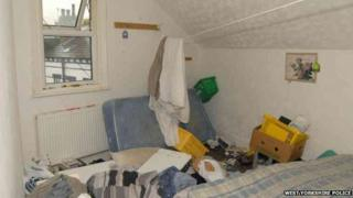 Bedroom in messy conditions