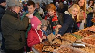 More than 70 market stalls were set up in the city for the celebrations