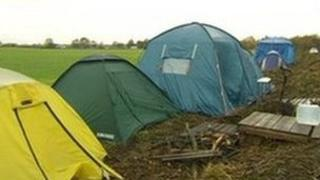 Barton Moss anti-fracking camp on land in Salford