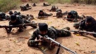 Maoist rebels in India