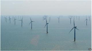Centrica Energy Lincs offshore wind farm off the Lincolnshire coast