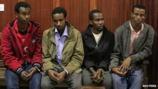 Suspects in court (12 November 2013)