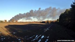 Fire at Hainford Hall scrapyard
