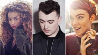(Left-right) Ella Eyre, Sam Smith, Chloe Howl