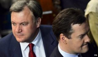 File photo from May of Ed Balls, left, with George Osborne, right