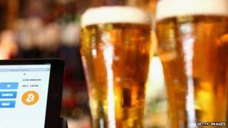 Bitcoins in pub